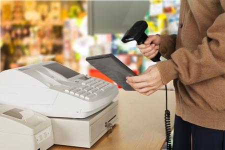 sales person: Cash Register.