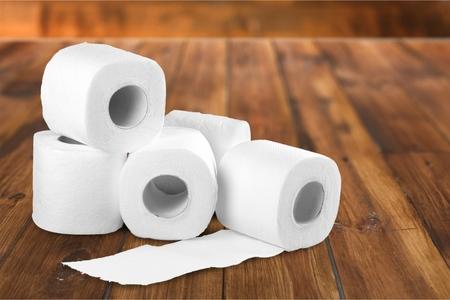 Toiletpapier. Stockfoto