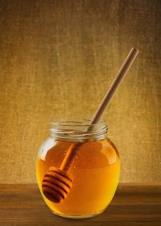 jarabe: Jarabe de miel. Foto de archivo