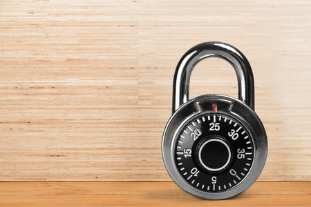 combination: Combination Lock. Stock Photo