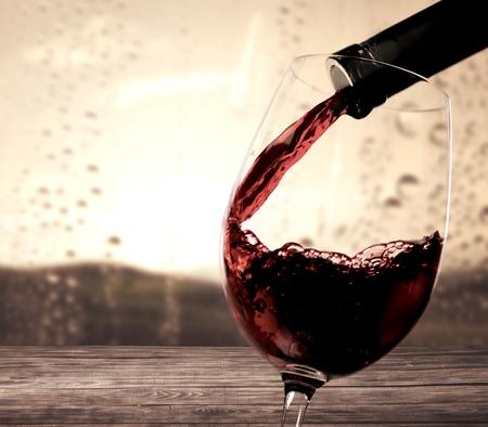 vidrio: Copa de vino.