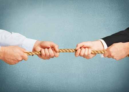 business rival: Conflict Arguing. Stock Photo