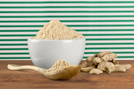 curcumin: Powder spice. Stock Photo