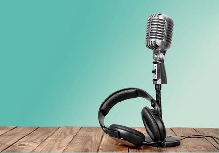 microfono de radio: Radiodifusi�n. Foto de archivo