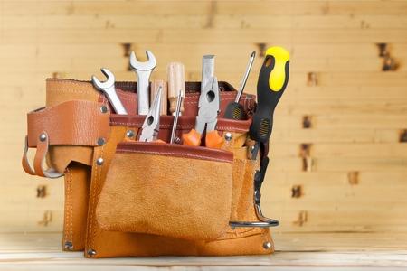 hardware: Cintur�n de herramientas Manitas. Foto de archivo