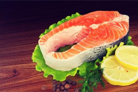 salmon fillet: Salmon fillet. Stock Photo
