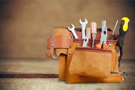 Bricoleur ceinture à outils. Banque d'images