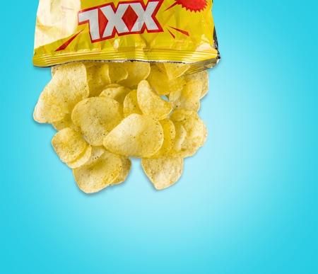 binge: Chip Bag. Stock Photo