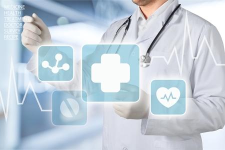 ヘルスケア: 医者の科学者。