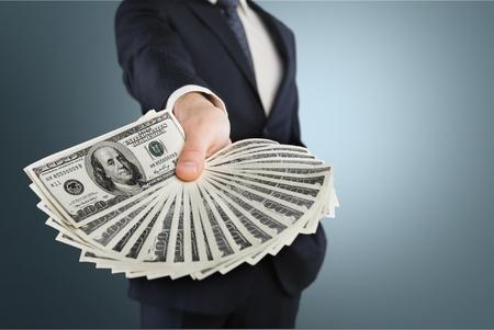 displaying: Displaying money. Stock Photo