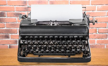 old typewriter: Old typewriter.