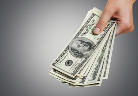 path to wealth: Paper Currency. Stock Photo