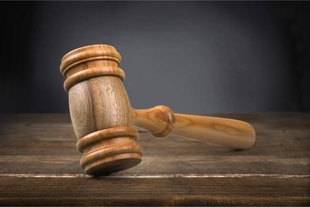 Court gavel. Stock Photo