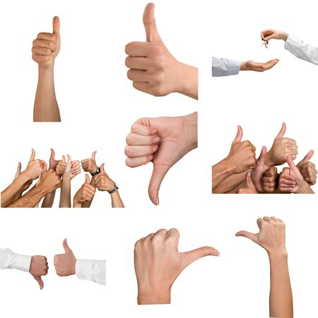 rejections: Human Thumbs. Stock Photo