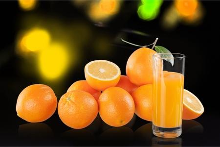 fruits juice: Orange Fruits and juice Stock Photo