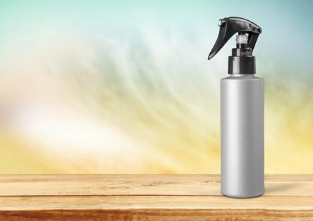 personal accessory: Silver sprayer.