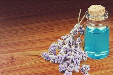 lavender coloured: Aromatherapy Oil.