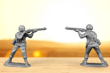 Toy Soldiers. Stock Photo