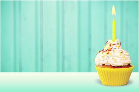 cupcakes: Birthday cupcake. Stock Photo