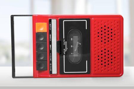 bakelite: Old Tape Player. Stock Photo