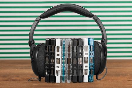 cassettes: Headphones and cassettes