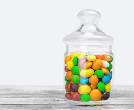 jellybean: Jellybean Jar. Stock Photo
