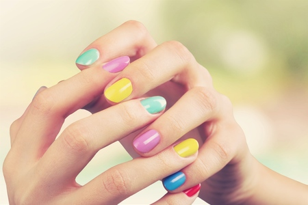 laque: Beautiful fingers. Stock Photo