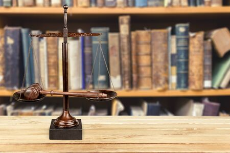 small group of objects: Scales of Justice. Stock Photo