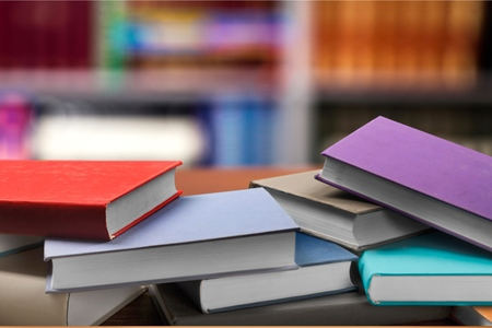 Colorful books. Imagens