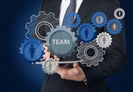 Teamwork concept. Stock Photo