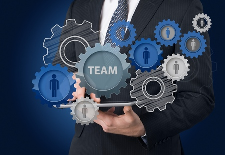 business process: Teamwork concept. Stock Photo