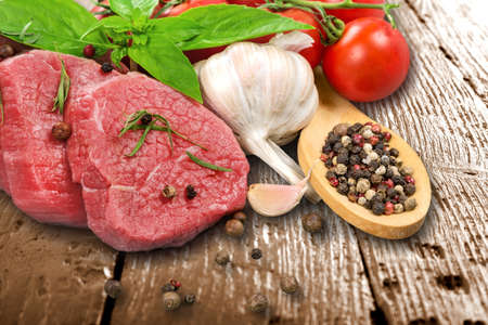 beefsteaks: Beef steaks. Stock Photo