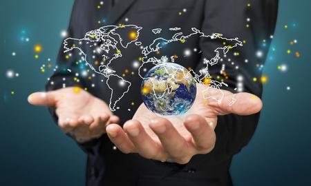 global economy: Global business. Stock Photo