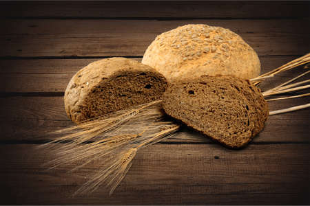eating pastry: Brown Bread.