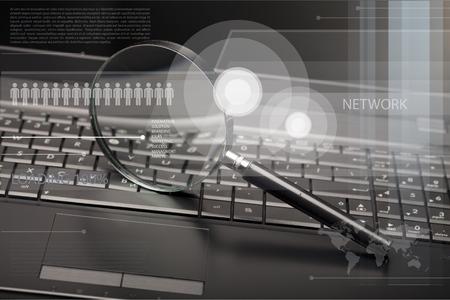comunicación: Vigilancia de seguridad. Foto de archivo
