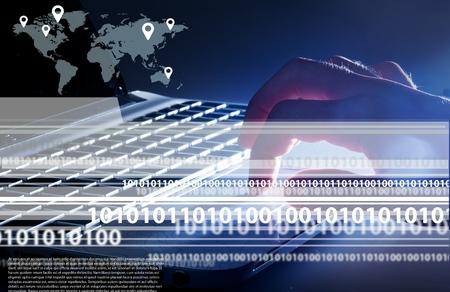 computer netzwerk: Computer network.