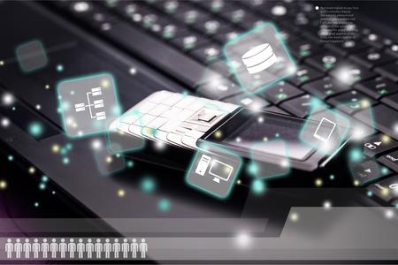 rete di computer: Rete di computer. Archivio Fotografico