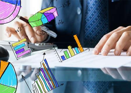 calculating: Bill Calculating. Stock Photo