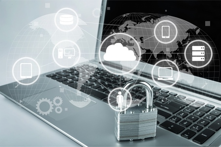Network security: Network Security. Stock Photo