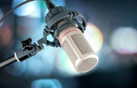 cardioid: Micrófono del estudio. Foto de archivo