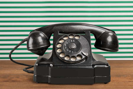 bakelite: Old-fashioned Telephone. Stock Photo