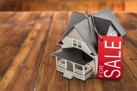 家の販売。 写真素材
