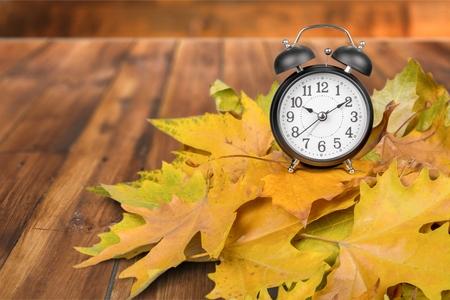fall time: Daylight Savings Time. Stock Photo