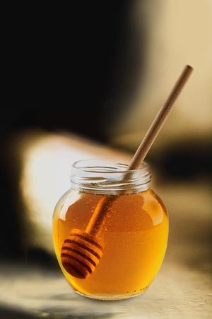 in syrup: Jarabe de miel. Foto de archivo