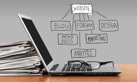 information medium: Web Site Design. Stock Photo