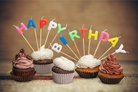 torte compleanno: Birthday Cakes. Archivio Fotografico