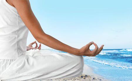 spirituality: Yoga Meditating.