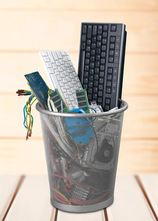 wastepaper basket: Recycling Garbage. Stock Photo