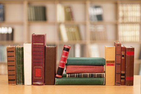 Library Books. Stock Photo