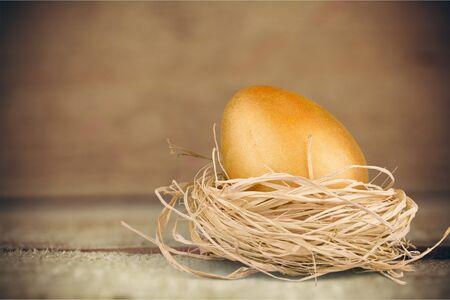 golden: Golden Egg. Stock Photo